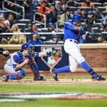 Curtis Granderson at bat vs. the Chicago Cubs