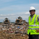 Krishna Reddy at a landfill