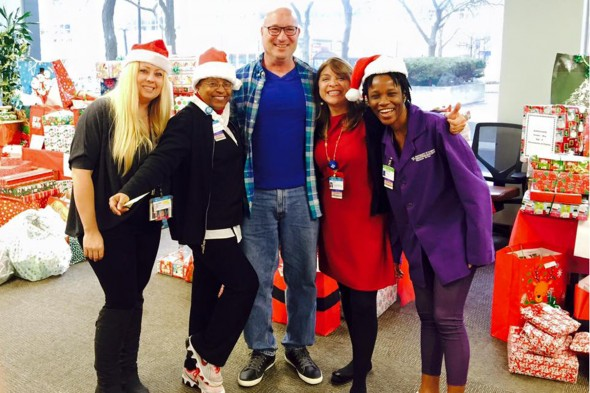 Helpers for the 2015 Miracle on Taylor employee gift drive
