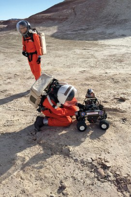 "Barak Stoltz spent two weeks at the Mars Desert Research Station in Utah. ""It's for people who want the experience of being an astronaut,"" he says."