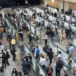 aerial view of student research forum
