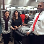 UIC Food Recovery Network members and Dining Services manager