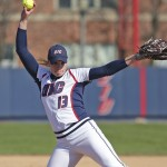 Elaine Heflin winds up for a pitch