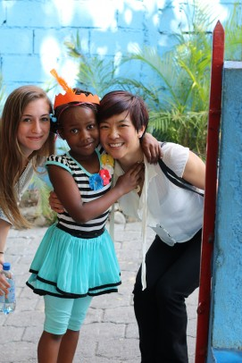 Grad student Nicole Laramee (left) and Janet Lin, associate professor of emergency medicine, have made several trips to Haiti this year.