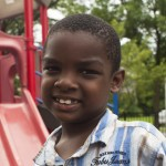 African American boy at a playground