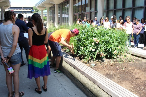 Tree planting in memory of Pulse
