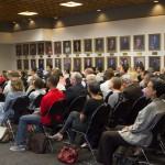 Audience at Campus Conversations lecture