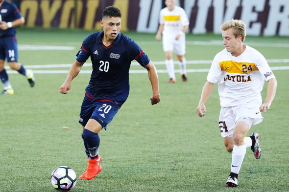 Jose Fuentes in a game against Loyola