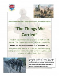 The Things We Carried flyer