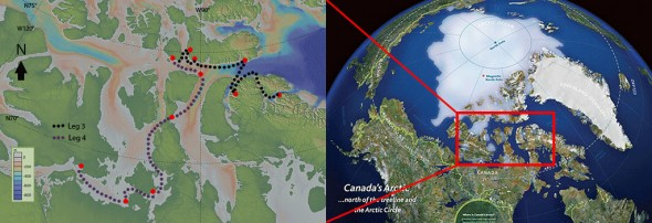 Northwest Passage Project map