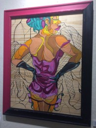 Art by artist Sam Kirk is on display at the UIC Gender and Sexuality Center.