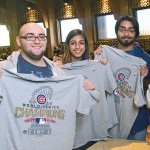 Fans celebrate World Series win on campus; cubs