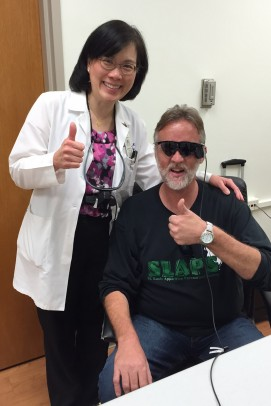 Dr. Jennifer Lim and Robert Selby; Argus II; retinal implant