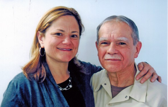 Melissa Mark Viverito, Speaker of the New York City Council with Puerto Rican Nationalist Oscar Lopez Rivera.