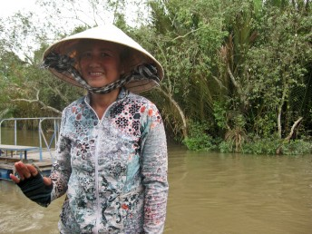 Villager in the Mekong Delta