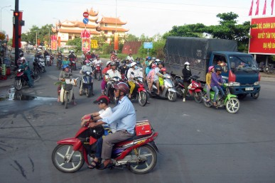 Traffic outside Ho Chi Minh City, Vietnam