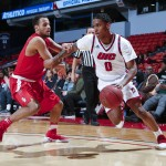 during the second half of UIC vs Stony Brook in the first round of the College Basketball Invitational at the Pavilion on Thursday, March 16, 2017 in Chicago. The Flames defeated the Seawolves 71-69. Photo by John Konstantaras for UIC Athletics | http://JohnKonPhoto.com
