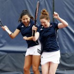 Oana Manole and Miranda Rodriguez celebrating