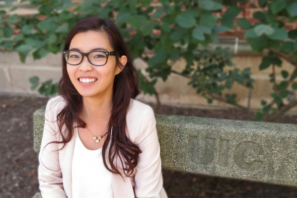 Graduate student Esther Ng