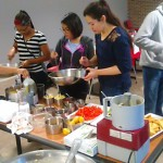 students learning to cook diabetes-friendly meals