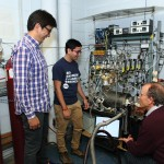 Cortino Sukotjo, Arghya Bishal, and Christos Takoudis in a lab