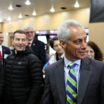 Mayor Rahm Emanuel touring facility