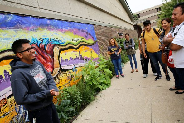 UIC Latino Cultural Center's mural tour; open house