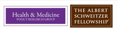 Health & Medicine Policy Research Group & Schewitzer Fellowship logos