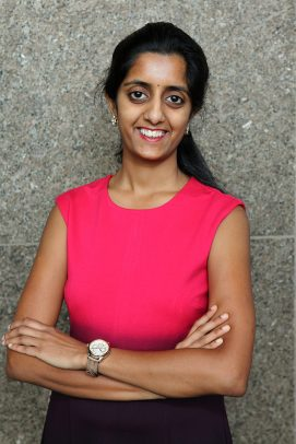 Vidyani Suryadevara, president of the Graduate Student Council.