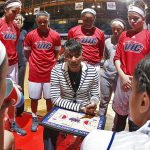 UIC head women's basketball coach Regina Miller