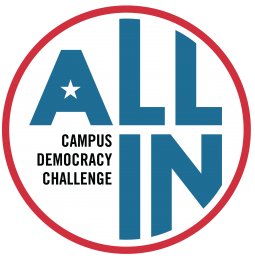 All In Campus Democracy Challenge logo