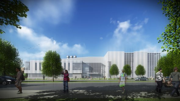 rendering of the Engineering Innovation Building - North Façade