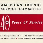 American Friends Service Committee 40th anniversary flyer