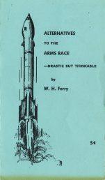 "American Friends Service Committee ""Alternatives to the Arms Race"" pamphlet cover"