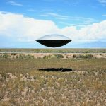 UFO above a field