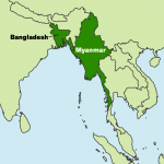 Map - Myanmar & Bangladesh