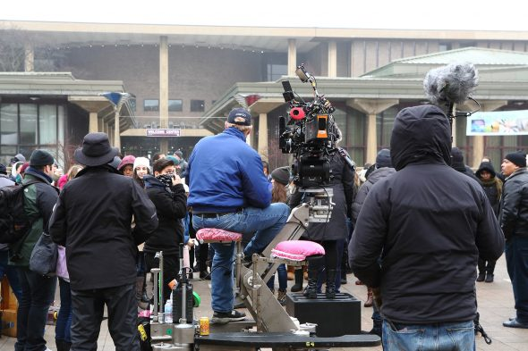 Chicago PD filming in the quad