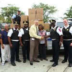 UIC PD shower shoe donation