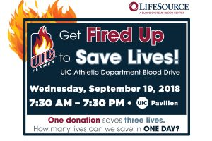 UIC athletic department hosts 12-hour blood drive Sept. 19