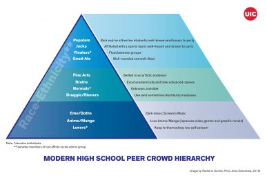 Modern high school peer crowd hierarchy