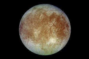 Europa moon with margins