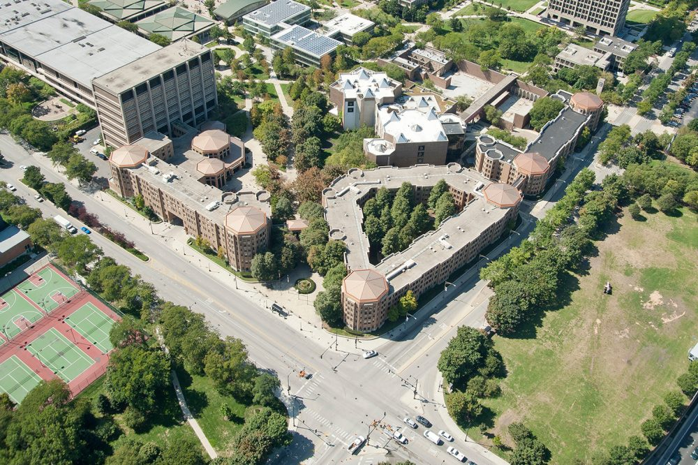 Aerial view of east campus