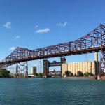 Calumet River with bridge above. (Photo: Great Cities Institute)