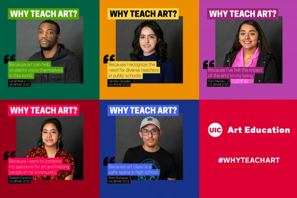 Why Teach Art student collage promo