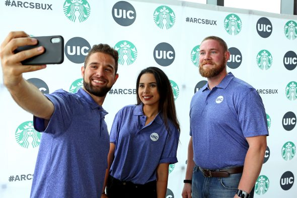 UIC Starbucks Grand Opening; ARC; Academic and Residential Complex
