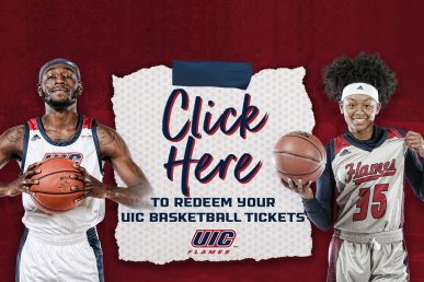 UIC Flames Basketball ticket redeem with UIC players