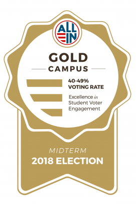 Gold Campus, Excellence in Student Voter Engagement