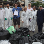 Sustainability waste audit collecting garbage