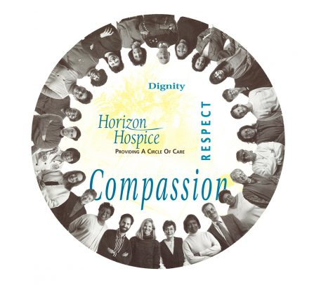 Horizon Hospice, circle brochure