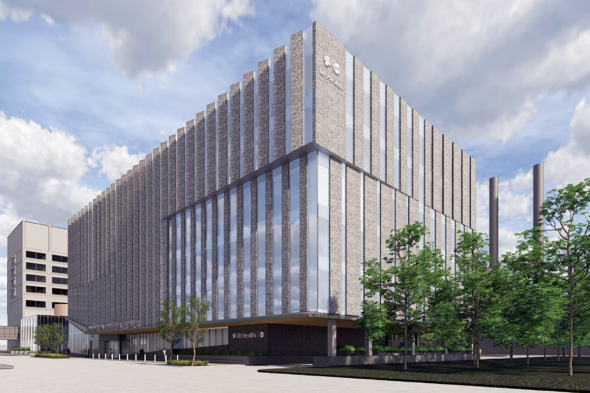 Rendering of the proposed UI Health Outpatient Surgery Center and Specialty Clinics building